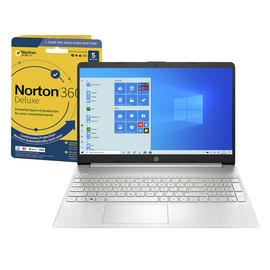 HP Slim 15.6in i5 8GB 256GB FHD Laptop & Norton 360