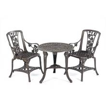 Greenhurst 3 Piece Rose Bistro Set - Gun Metal Grey
