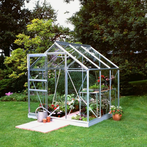 Buy Halls Popular Glass 6 X 6ft Greenhouse With Base At