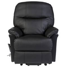 Lars Riser Recliner Leather Chair w/ Single Motor - Black