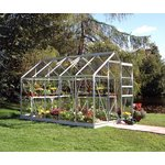 more details on Halls Popular Toughened Glass 10 x 6ft Greenhouse with Base.