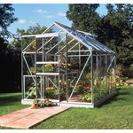 more details on Halls Popular Toughened Glass 8 x 6ft Greenhouse with Base.