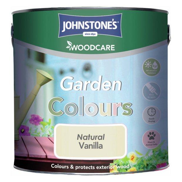 Buy johnstone 39 s garden colour sheen paint 2 5l natural vanilla at your online - Johnstones exterior paint set ...