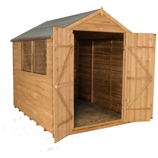 Buy forest overlap 8x6ft shed with base and installation for Garden shed installation