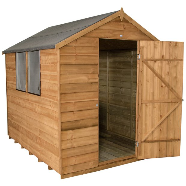 Buy forest essential overlap 6 x 8ft shed with for Garden shed installation