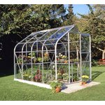 more details on Halls Supreme Toughened Glass 8 x 6ft Greenhouse with Base.