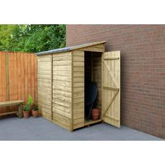 Forest 6 x 3ft Overlap Wooden Pent Shed