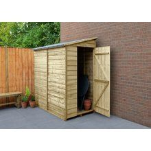 forest overlap wooden wall shed 6 x 3ft