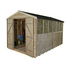 Forest 12 x 8ft Overlap Wooden Apex Shed - Double Door