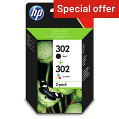 HP 302 STD Black Tri Colour Ink Cartridge