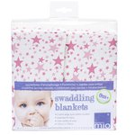 more details on Bambino Mio Swaddling Blankets/XL Muslin Squares Pink Stars.