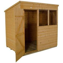 Forest Wooden 7 x 5ft Shiplap Pent Shed Best Price, Cheapest Prices