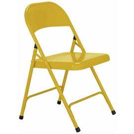 Habitat Macadam Metal Folding Chair - Yellow