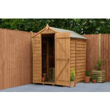 Forest Overlap Wooden Windowless Shed - 6 x 4ft Best Price, Cheapest Prices