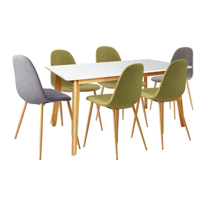 Buy Hygena Beni Dining Table and 6 chairs GreenGrey at  : 5049918RSETMain768ampw620amph620 from www.argos.co.uk size 620 x 620 jpeg 30kB