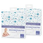 more details on Bambino Mio Muslin Squares Blue Stars - 4 Pack x2.