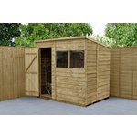 Forest Overlap 7 x 5ft Pent Shed.