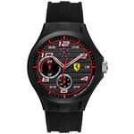 more details on Scuderia Ferrari Lap Time Multi Func Black Dial Strap Watch.