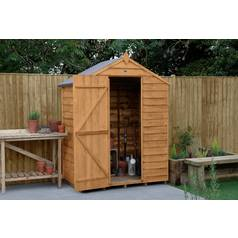 Forest 5 x 3ft Overlap Wooden Aped Shed - No Window