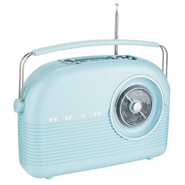 Buy bush classic retro dab radio cornflower blue at for Classic house radio