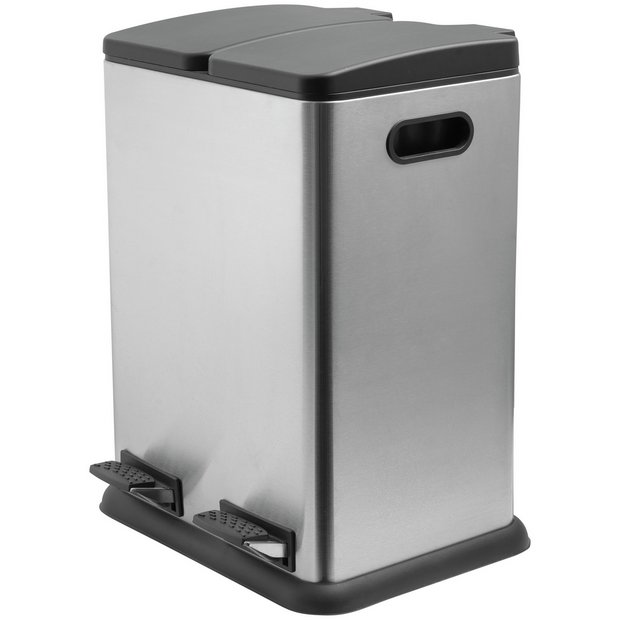 Buy Addis 40 Litre 2 Compartment Recycling Bin Kitchen Bins Argos