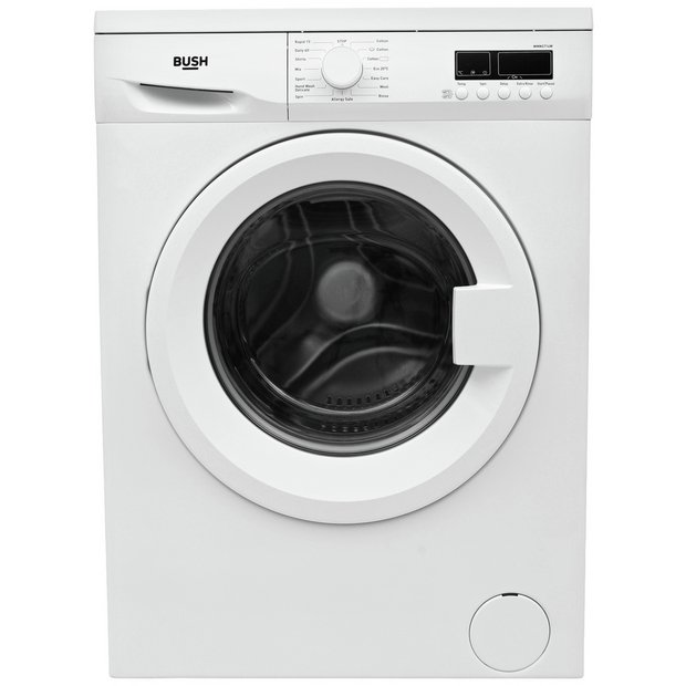 buy bush wmns714w 7kg 1400 spin washing machine white at. Black Bedroom Furniture Sets. Home Design Ideas