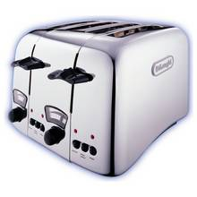 De'Longhi Argento 4 Slice Toaster - Stainless Steel