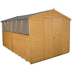 Forest Wooden 12 x 8ft Shiplap Double Door Apex Shed Best Price, Cheapest Prices