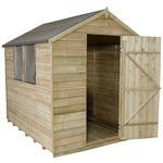 Forest Overlap Apex 6 x 8ft Shed with Base.