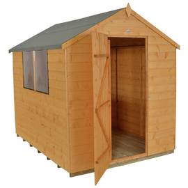 Forest Wooden 8 x 6ft Shiplap Apex Shed Best Price, Cheapest Prices