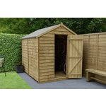 more details on Forest Overlap Apex 6 x 8ft Windowless Shed.