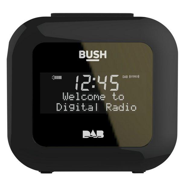 buy bush dab alarm clock radio black at your online shop for clock radios home. Black Bedroom Furniture Sets. Home Design Ideas