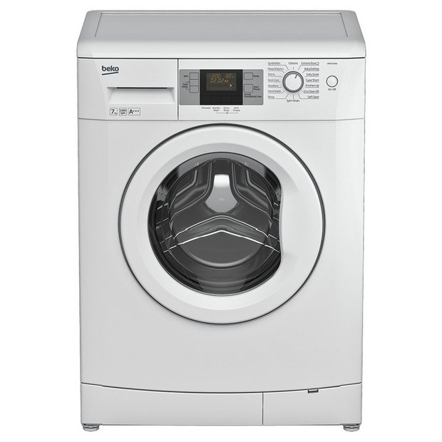 buy beko wmb71343w 7kg 1300 spin washing machine white. Black Bedroom Furniture Sets. Home Design Ideas