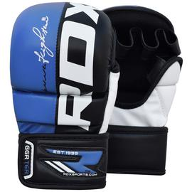 RDX Medium to Large Mixed Martial Arts Training Gloves -Blue
