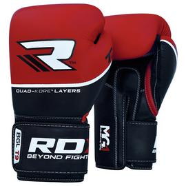 RDX Quad Kore 16oz Boxing Gloves - Red.