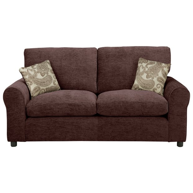 Buy home tabitha 2 seater fabric sofa bed chocolate at your online shop for sofa Buy home furniture online uk