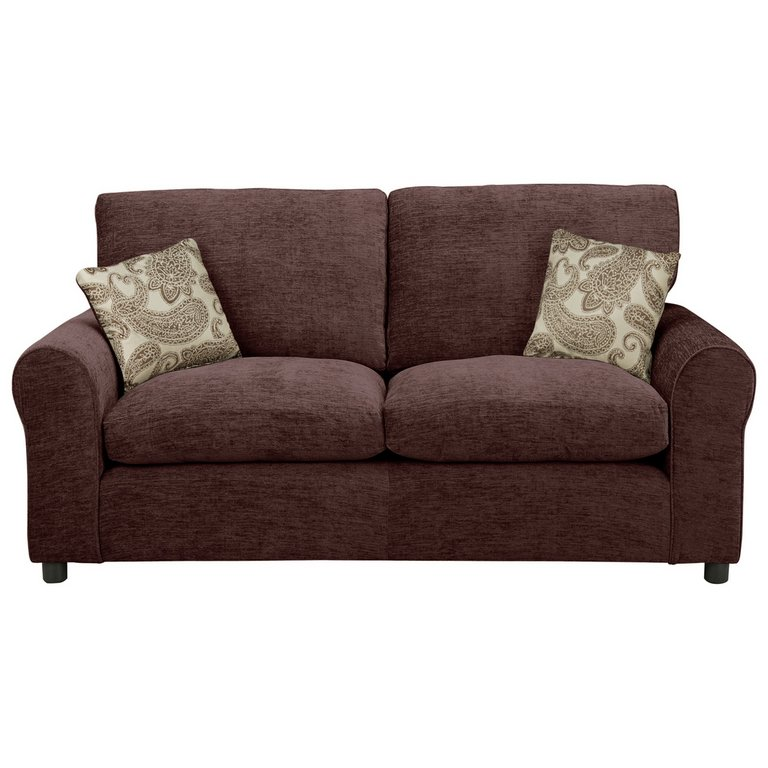 Buy HOME Tabitha 2 Seater Fabric Sofa Bed  Chocolate at