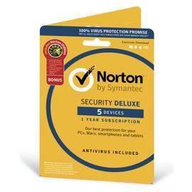 Norton Security Deluxe & Utilities 2019 - 5 Devices 1 Year