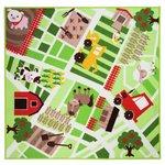 Kiddy Farm Yard Rug - 133x133cm - Multicoloured