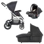 more details on Baby Elegance Cupla Travel System - Black.