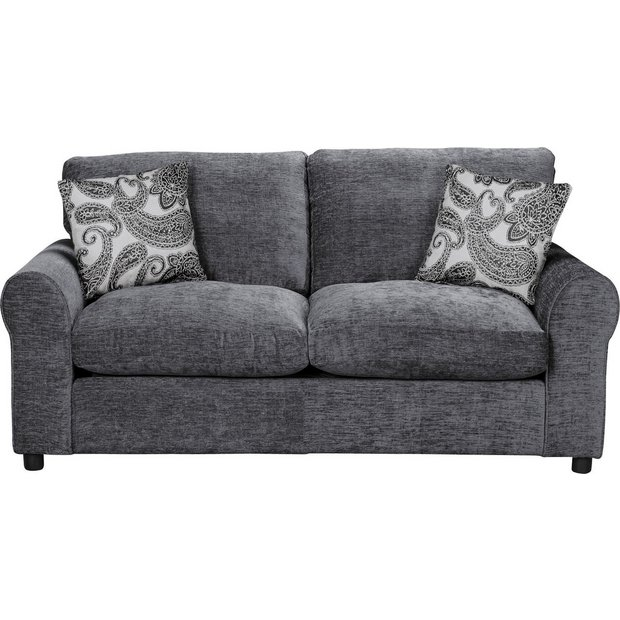 Buy Home Tabitha 2 Seater Fabric Sofa Bed Charcoal At