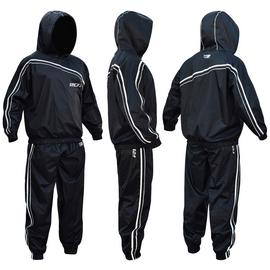 RDX Nylon Medium Sauna Sweat Suit - Black.