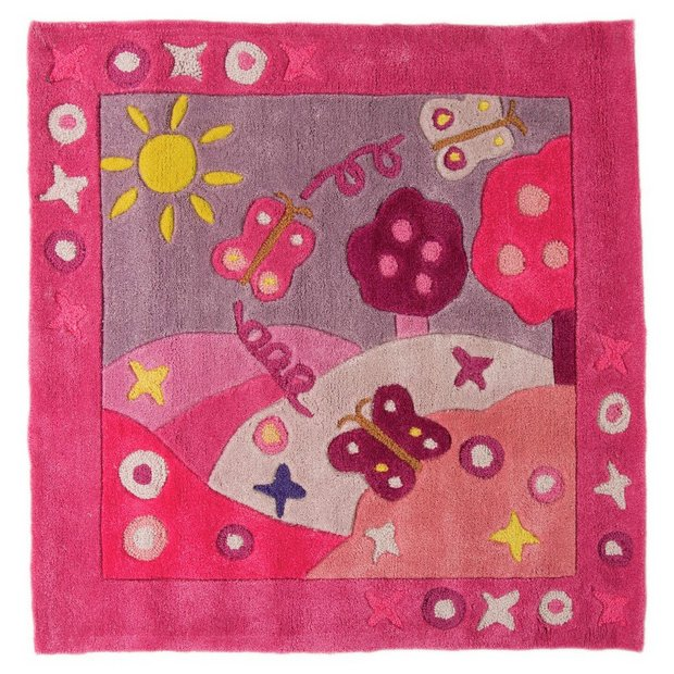 buy kiddy play summertime girl rug 90x90cm at your online shop for rugs and mats. Black Bedroom Furniture Sets. Home Design Ideas