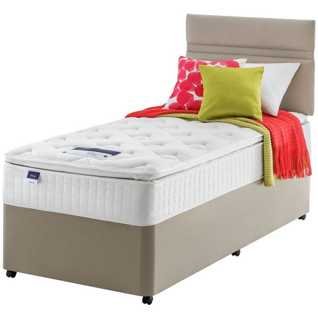 Buy silentnight stanfield pillowtop divan single at your online shop for divan Argos single divan beds