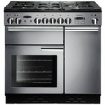more details on Rangemaster Professional 90cm Dual Fuel Cooker- S/Steel.