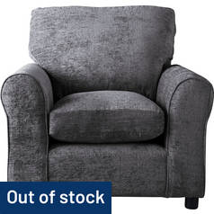 Argos Home Tabitha Fabric Armchair - Charcoal