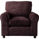more details on HOME Tabitha Fabric Chair - Chocolate.