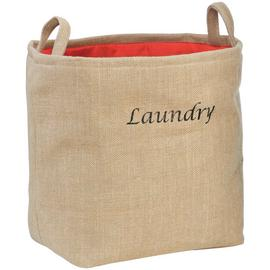 Premier Housewares Jute Hessian Laundry Bag - Natural