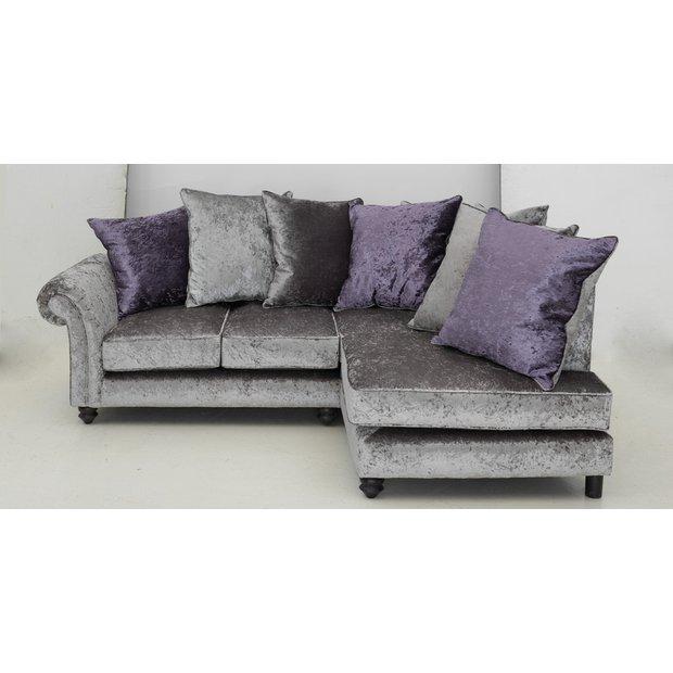 Buy Garden Corner Sofa: Buy Collection Manhattan Fabric Left Hand Corner Sofa