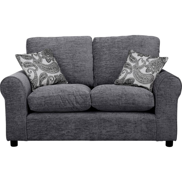 Buy Home Tabitha Compact 2 Seater Fabric Sofa Charcoal